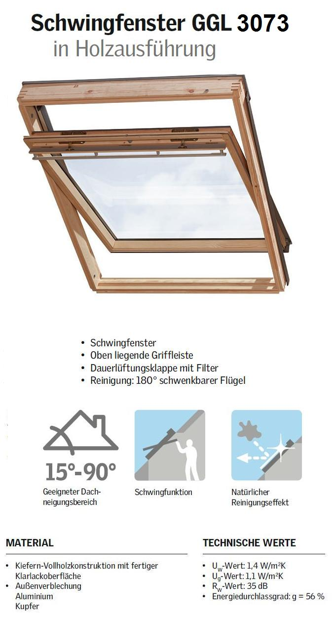 velux ggl s06 3073 114x118 cm dachmax dachfenster shop velux fakro roto kunststoff holz weiss. Black Bedroom Furniture Sets. Home Design Ideas
