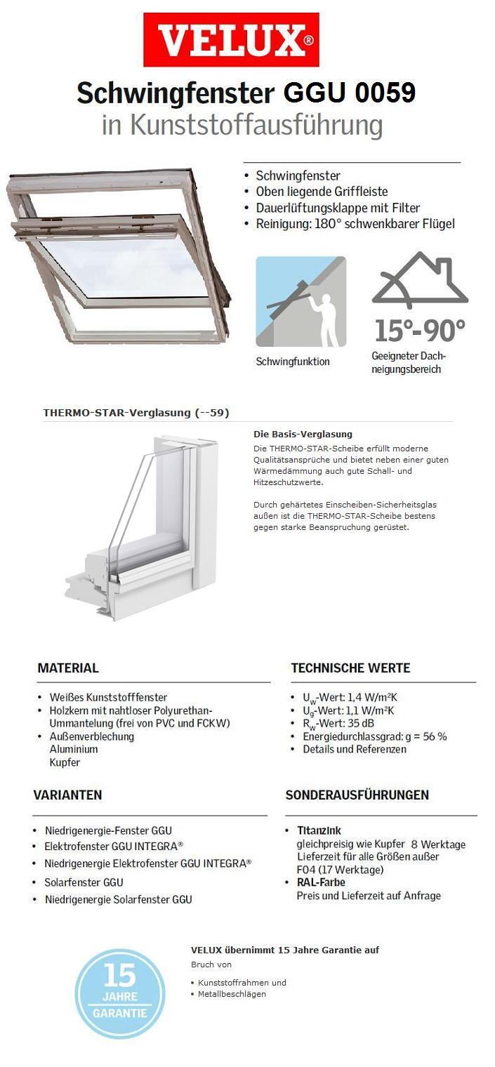 velux ggu p06 0059 94x118 cm dachmax dachfenster shop velux fakro roto kunststoff holz weiss. Black Bedroom Furniture Sets. Home Design Ideas