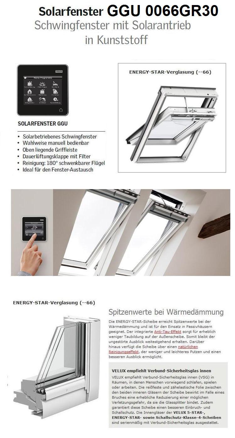 velux ggu fk06 006630 66x118 solarfenster aus kunststoff energy star dachmax dachfenster shop. Black Bedroom Furniture Sets. Home Design Ideas