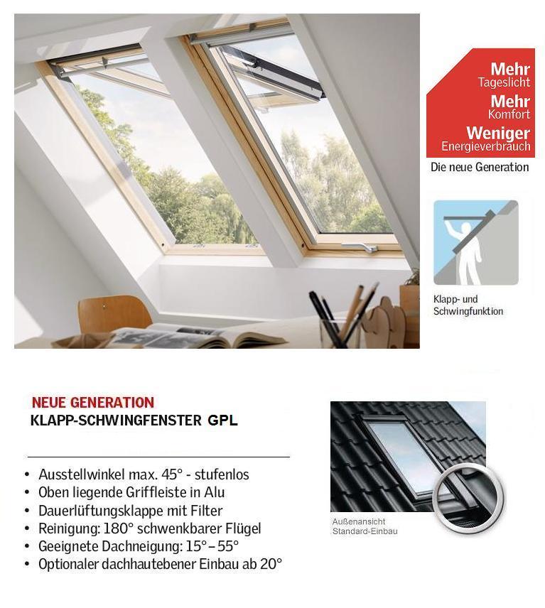 velux gpl mk08 3066 78x140 cm standard pakete dachmax dachfenster shop velux fakro roto. Black Bedroom Furniture Sets. Home Design Ideas