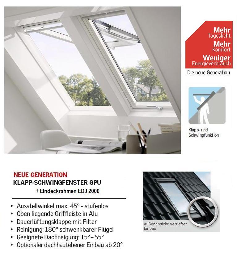 velux gpu pk06 sd0j4 94x118 cm plus pakete dachmax dachfenster shop velux fakro roto. Black Bedroom Furniture Sets. Home Design Ideas