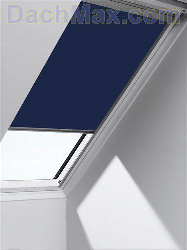 velux elektro sichtschutzrollo rml standard 9050 blau uni. Black Bedroom Furniture Sets. Home Design Ideas