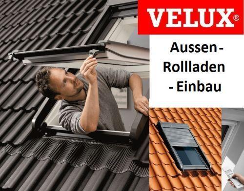 Cool Einbau von Original Velux Außenrollladen mit Elektrobedienung  KM94