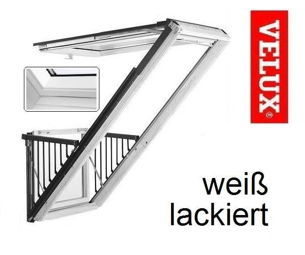 velux cabrio gdl sk19 2066 114x252 cm weiss lackiert. Black Bedroom Furniture Sets. Home Design Ideas