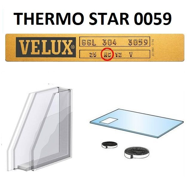 doppelverglasung f r velux holzfenster thermo star ves von 1991 bis 2000 ipl 0059 0073 dachmax. Black Bedroom Furniture Sets. Home Design Ideas