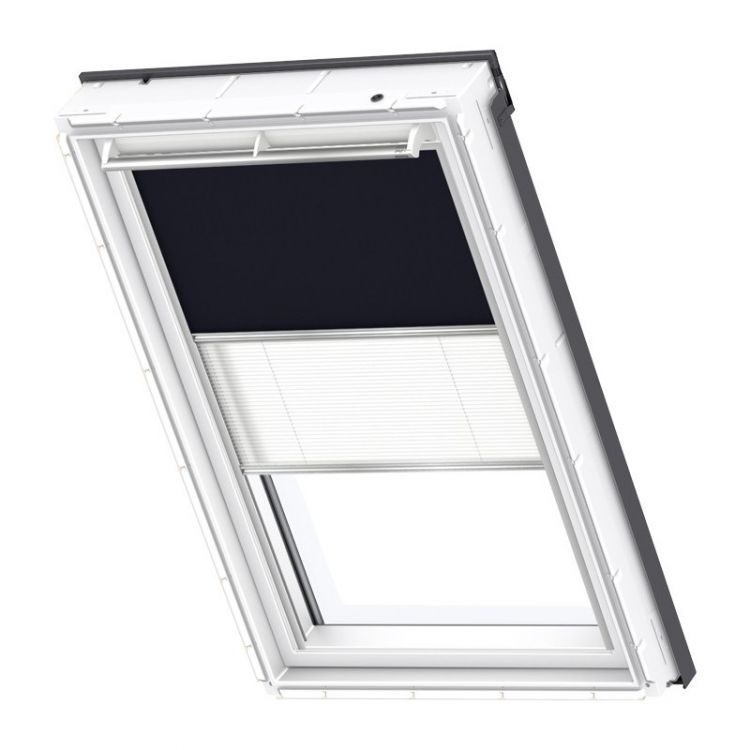 Velux rollo plissee duo system dfd 0001 standard dachmax for Tenda velux ggl c04