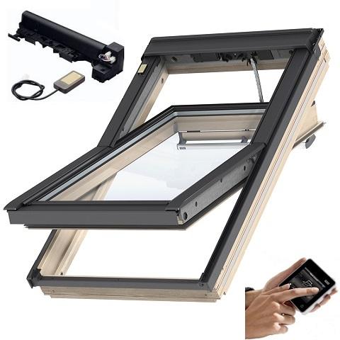 velux 3-fach-verglasung dachfenster aus holz energie integra elektrofenster