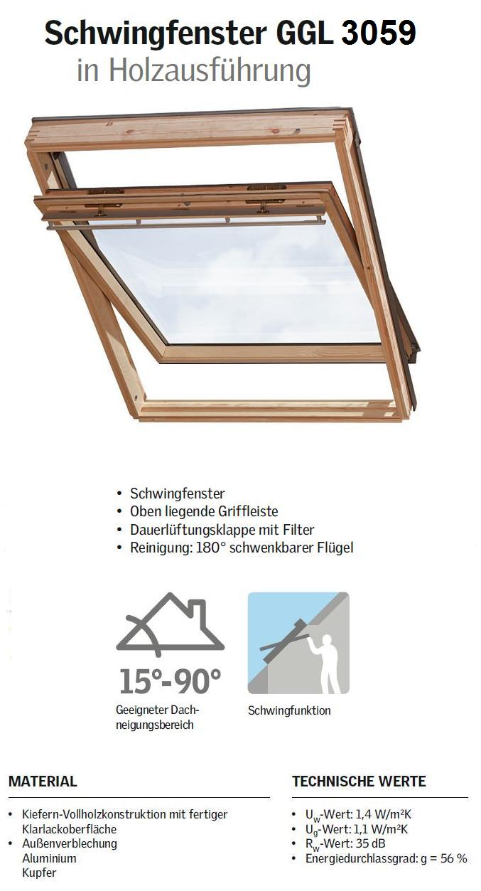 velux ggl p06 3059 94x118 cm dachmax dachfenster shop velux fakro roto kunststoff holz weiss. Black Bedroom Furniture Sets. Home Design Ideas