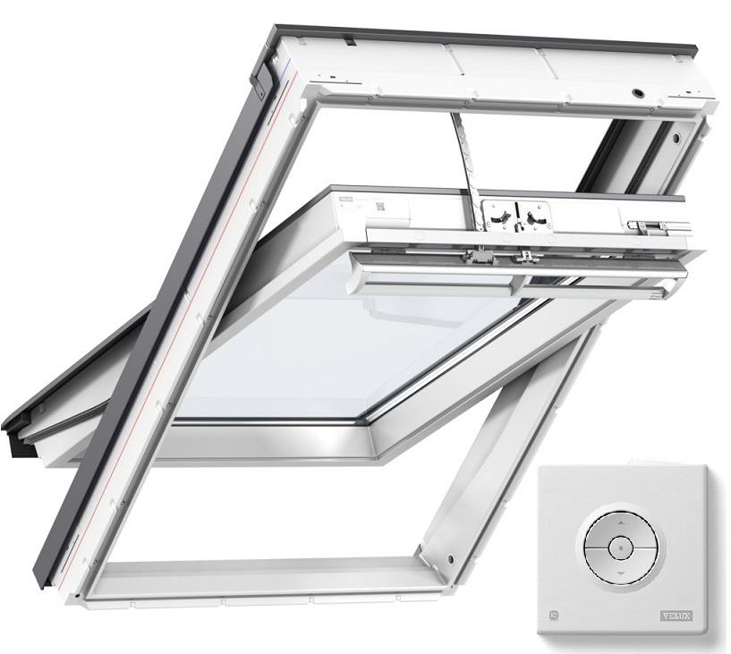 schwingfenster velux aus kunststoff Elektrisch betrieben integra ggu glu