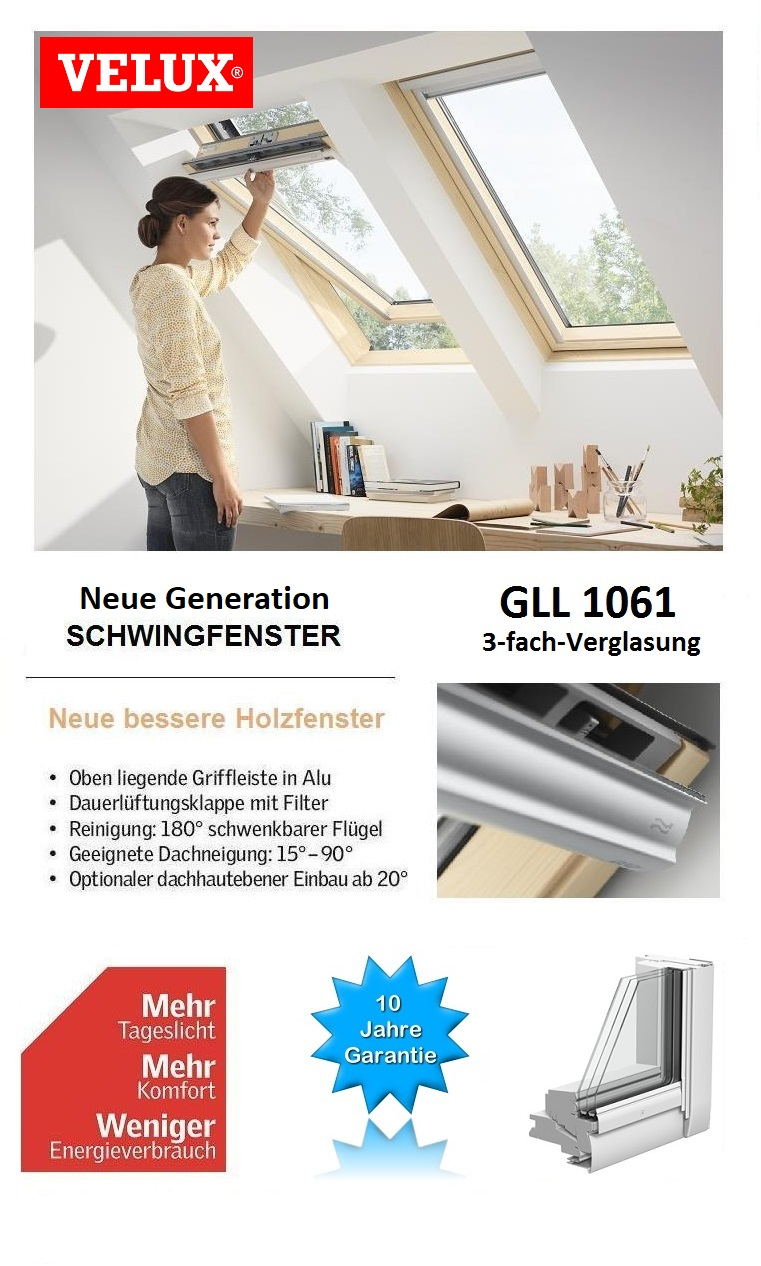 dachfenster aus holz velux gll sk06 1061 114x118 cm energie dachmax dachfenster shop velux fakro. Black Bedroom Furniture Sets. Home Design Ideas