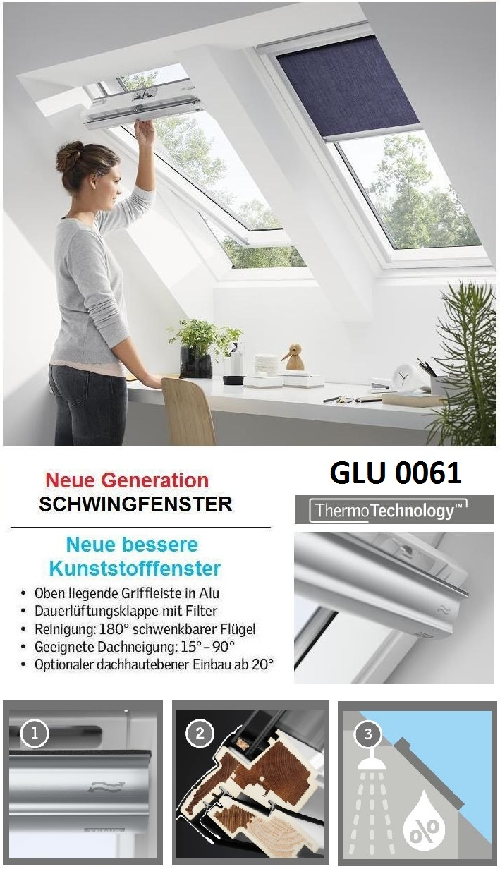 velux glu mk06 0061 78x118 cm dachfenster kunststoff energie dachmax dachfenster shop velux. Black Bedroom Furniture Sets. Home Design Ideas