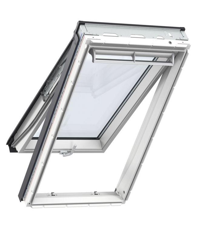 klapp schwing fenster velux gpl 2066 energie plus uw 1 0 dachfenster aus holz weiss lackiert. Black Bedroom Furniture Sets. Home Design Ideas