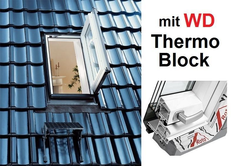 Roto Dachfenster aus Holz mit Eindeckrahmen 94x118