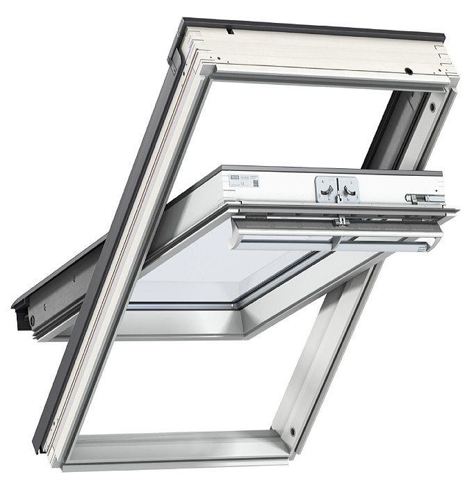 schwing fenster velux ggl 2068 energie ug 0 6 uw 1 1 dachfenster aus holz weiss lackiert dachmax. Black Bedroom Furniture Sets. Home Design Ideas